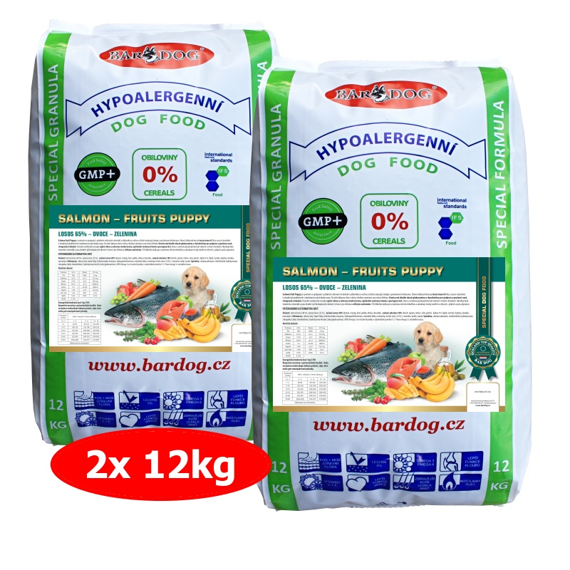 BARDOG SALMON FRUIT PUPPY 2 x 12 kg