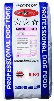 BARDOG CAT FOOD  30/10 8 kg