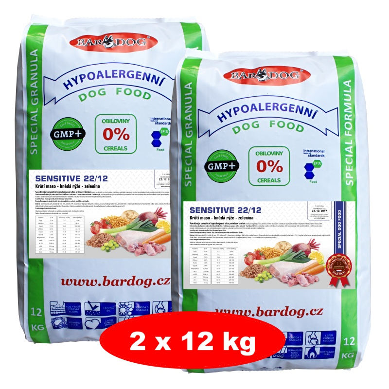 BARDOG SENSITIVE 22/12 Ultra Premium 12 kg