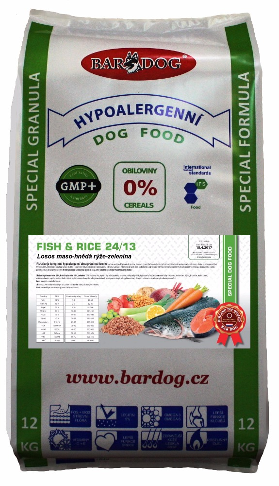 BARDOG Fish Rice 24/13 Ultra Premium 12 kg