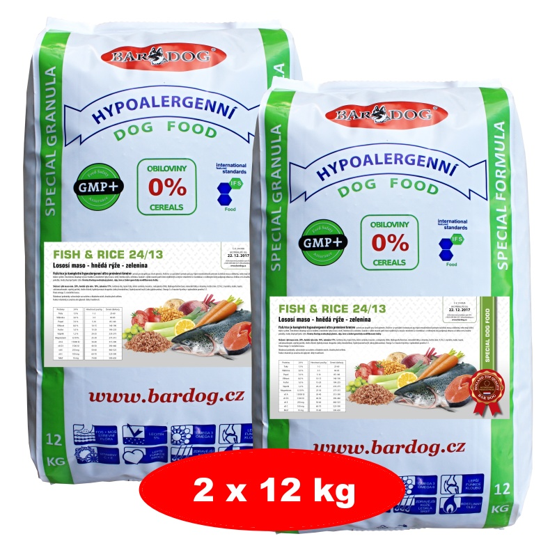BARDOG Fish Rice 24/13 Ultra Premium 2 x 12 kg