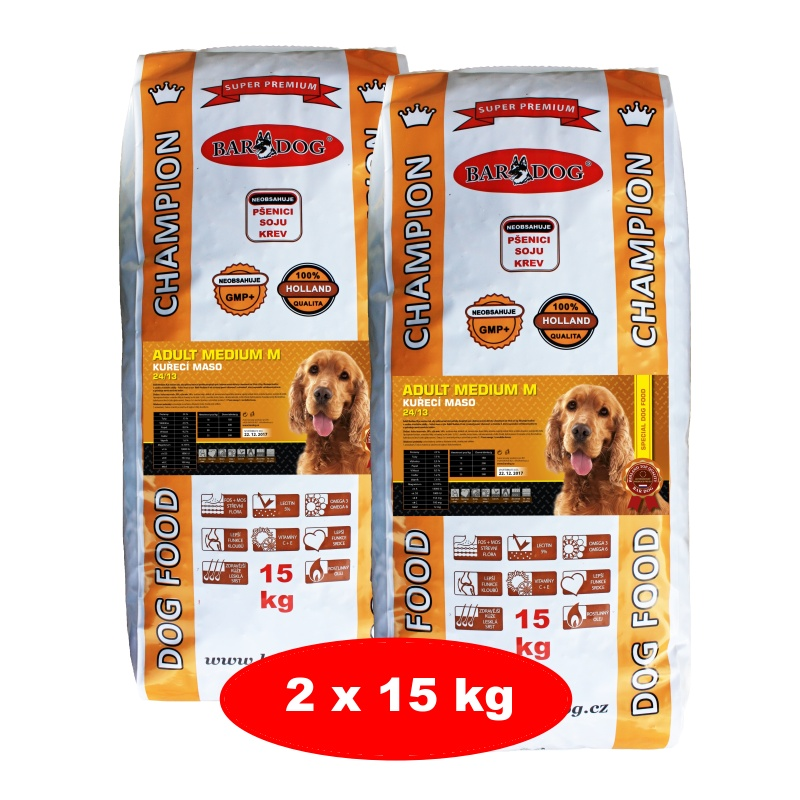 BARDOG ADULT Medium M 2 x 15 kg