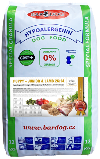 BARDOG Puppy - Junior & Lamb 12 kg