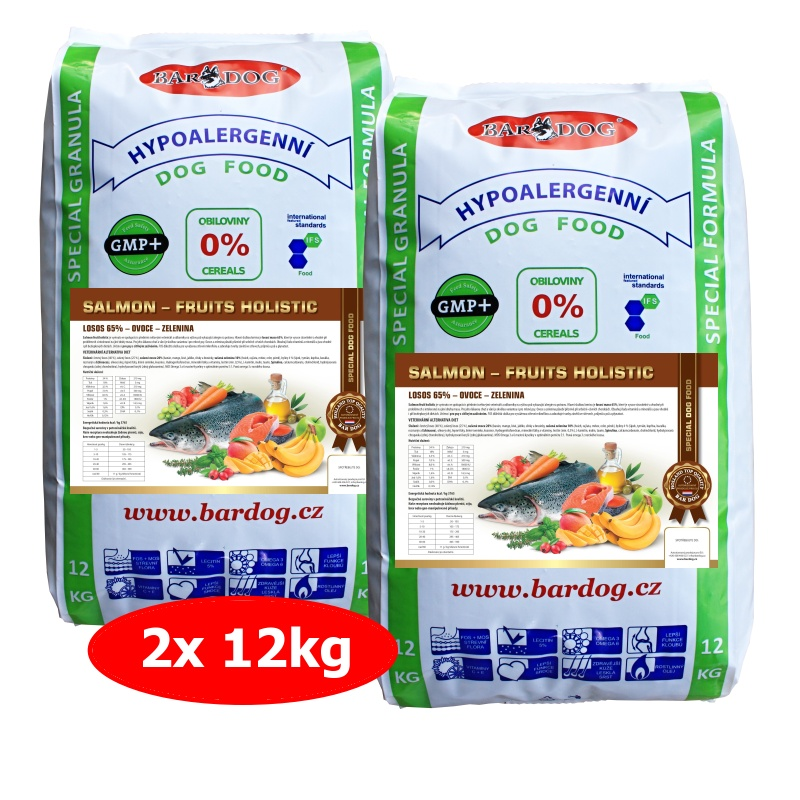 BARDOG SALMON  FRUIT HOLISTIC 2 x 12 kg