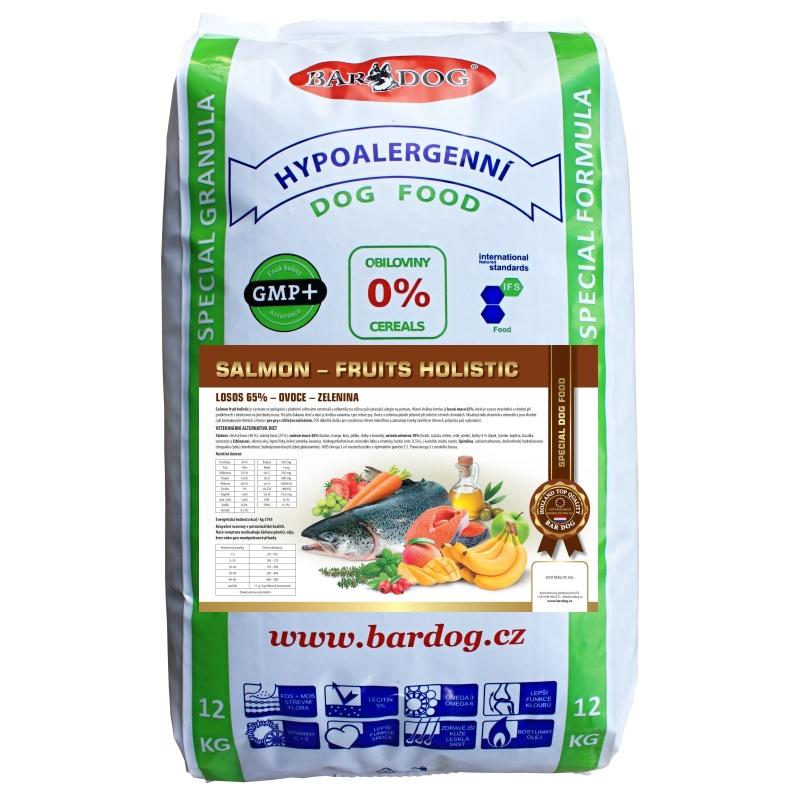 BARDOG SALMON  FRUIT HOLISTIC 1 x 12 kg