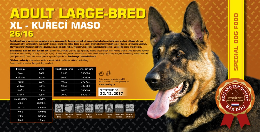 BARDOG ADULT Large & Breed  4 kg