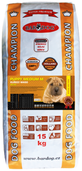 BARDOG PUPPY Medium 30/20 15 kg