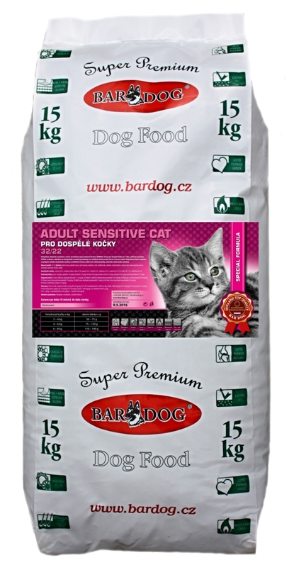 BARDOG ADULT SENSITIVE  CAT  32/22 15 kg