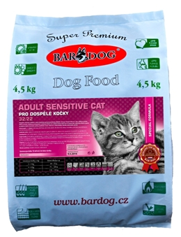 BARDOG ADULT SENSITIVE  CAT  32 / 22 4 kg