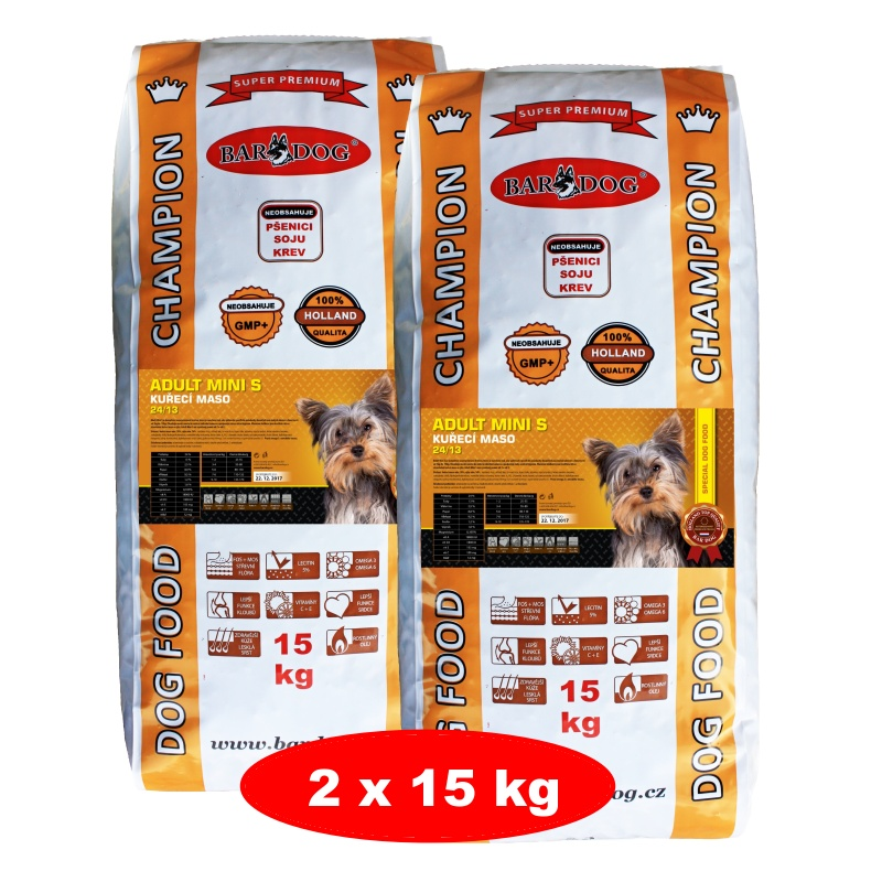 BARDOG ADULT Mini S 2 x 15 kg